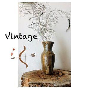 Vintage Brass & Enamel Urn - Vase, Made in…